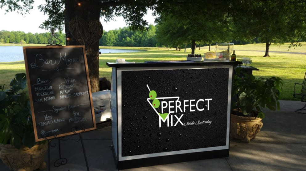Standard Bar with Custom Graphics - Perfect Mix Mobile Bartending