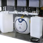 Full Self Contained 4 Basin Sink System Plumbing Water Containers Heater Pump - Closeup